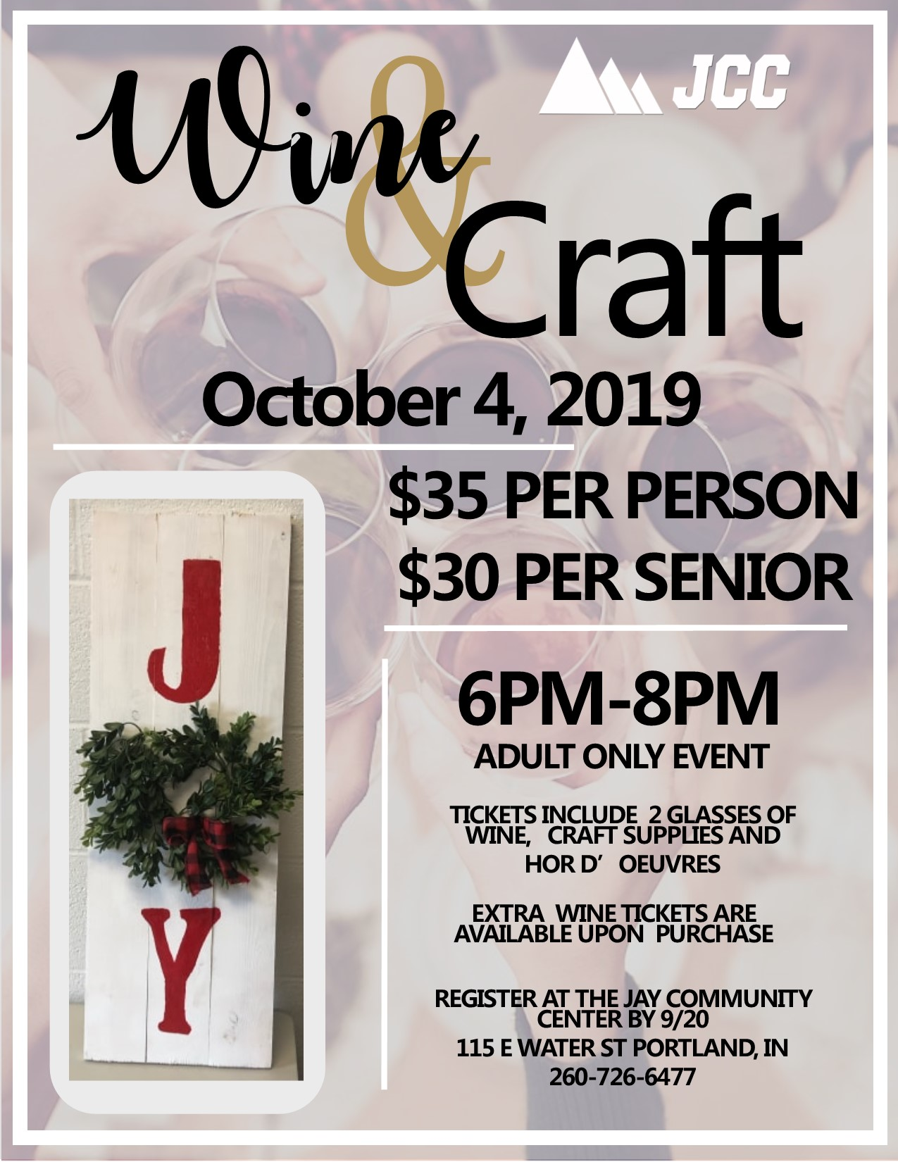 Wine and Craft Flyer