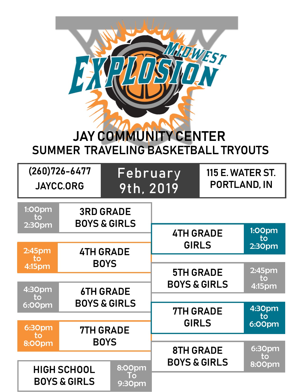 Midwest Explosion Tryouts