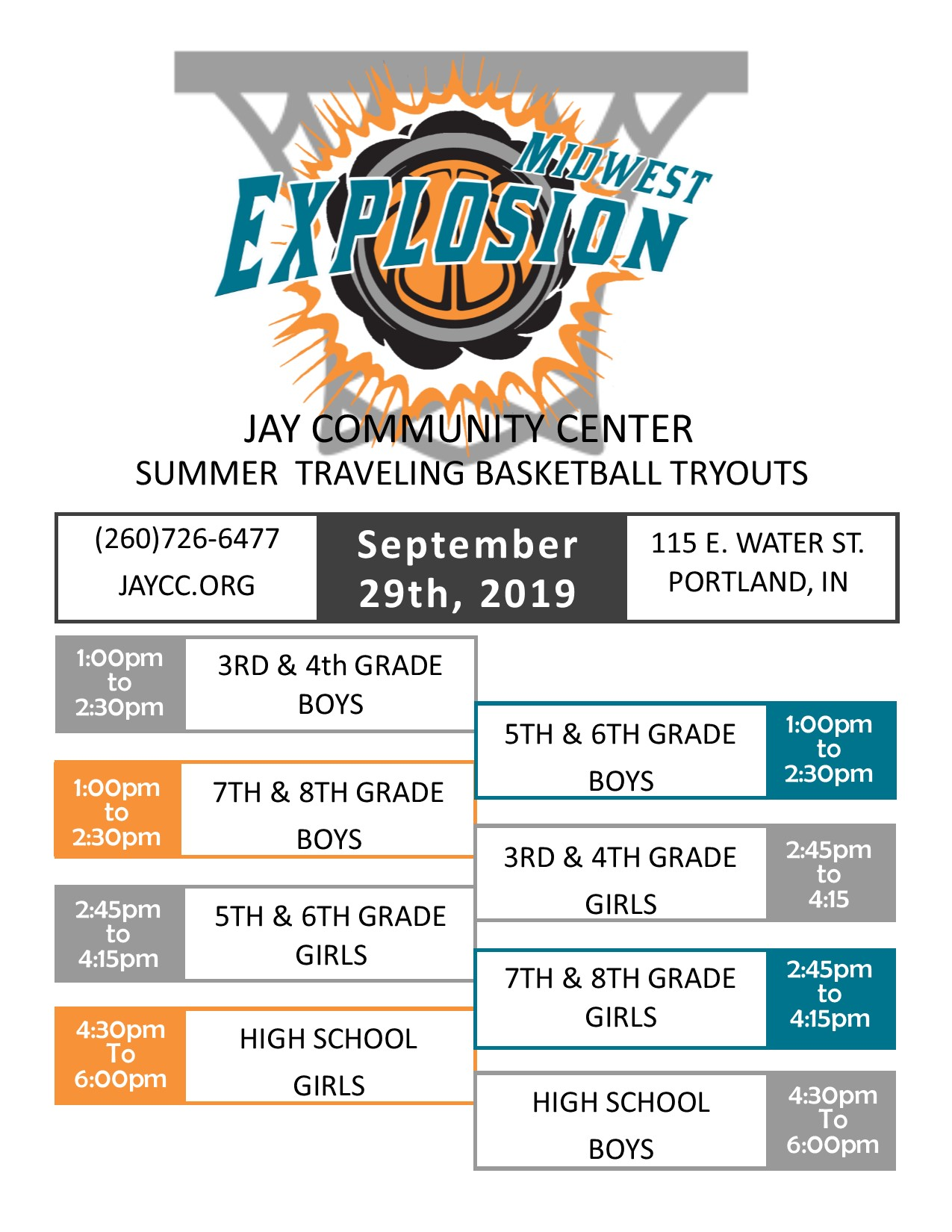 Midwest Explosion Tryouts 2019