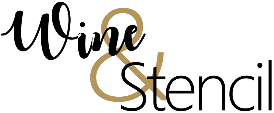 Wine and Stencil